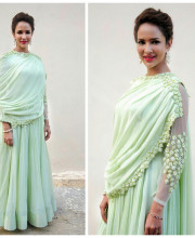 Lakshmi Manchu wearing Ridhi Mehra for an award ceremony Picture: Instagram