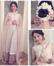 Divya Kumar in an Outfit by Anju Modi