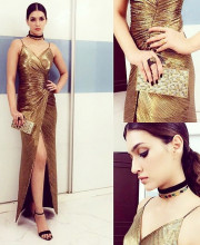 Kriti Sanon in a Monisha Jaising Dress for a Condenast India Dinner