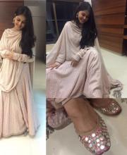 Genelia D'Souza wearing Rimple and Harpreet Narula