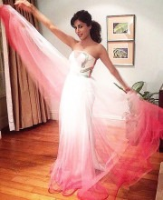 Chitrangda Singh in a White and Pink Dress