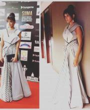 Lakshmi Manchu wearing Alpana Neeraj on day 2 of the SIIMA awards