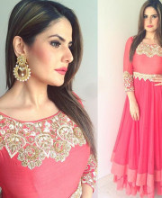 Zareen Khan Wearing Shillpa Purii and GARO by Priyangsu and Sweta