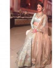 Divya Khosla Kumar in a Stylish Anju Modi Lehenga