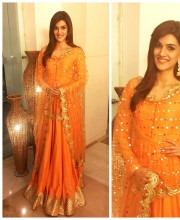 Kriti Sanon wearing an outfit by Sukriti and Aakriti