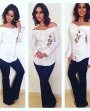 Ileana D'Cruz in an Outfit by Sonaakshi Raaj