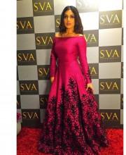 Bhumi Pednekar in a Pink Coloured SVA Dress