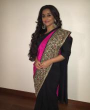 Vidya Balan in a gorgeous saree and Aquamarine jewellery