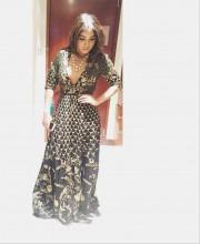 Bhumi Pednekar in a Black Anita Dongre Dress