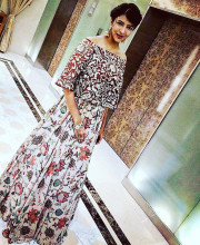 Lakshmi Manchu wearing Payal Singhal for a wedding sangeet in Chennai