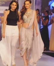 Evelyn Sharma and Sonaakshi Raaj at Rajasthan Fashion Week