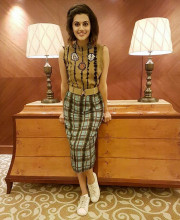 Tapsee Pannu wearing an outfit by Vizyon for the NDTV Youth Summit