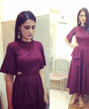 Nargis Fakhri in a dress by Manika Nanda