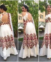 Karisma Kapoor in Kochi wearing Manish Malhotra