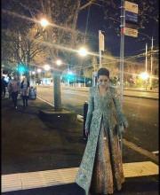 Karisma Kapoor in Melbourne wearing Sabyasachi