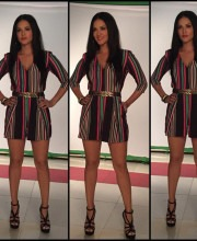Sunny Leone In Multi-Coloured Karn Malhotra Jumper