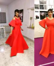 Lakshmi Manchu wearing an outfit by Dolly J