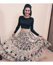 Tapsee Pannu in an outfit by Pankaj and Nidhi for an event in Mumbai