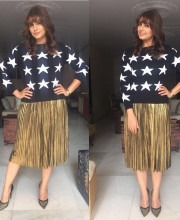Huma Qureshi in a Starry T-shirt from Madison on Pedder