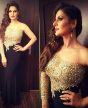Zareen Khan at the Star Screen Awards in Terani Couture