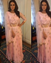 Huma Qureshi in an Outfit by Tanzila Antulay