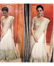 Tapsee Pannu wearing Abhinav Mishra for a wedding