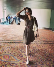 Karishma Tanna at the Airport in a Dress by The Palavate