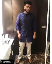 Arjun Kapoor in a Custom Look by Khanijo