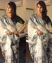 Huma Qureshi in a Saree by Lata Sabharwal