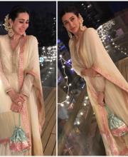 Karisma Kapoor in Anita Dongre for Diwali 2016