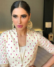 Nargis Fakhri in NYC wearing a stylish and gorgeous outfit by Anita Dongre