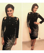 Tapsee Pannu wearing Kukoon for Amitabh Bhachhan's birthday celebrations