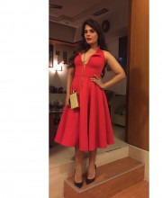 Richa Chaddha Wears Red Hot Dress