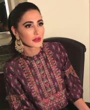 Nargis Fakhri in an Anita Dongre outfit for Diwali