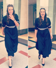 Neha Dhupia wearing Ekam by Armaan and Manish in Chandigarh