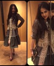 Genelia D'Souza wearing Amit Aggarwal for MAMI
