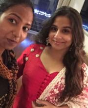 Vidya Balan in a beautiful outfit by Afreen Kamal