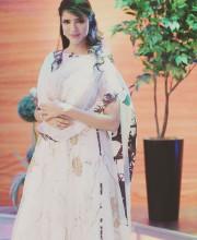 Lakshmi Manchu wearing Nikita Mhaisalkar and jewellery by Akoya Jewellery