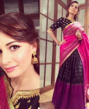 Dia Mirza in a Gaurang Shah Outfit