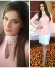 Zareen Khan Wearing Aakarshan by Aanchal Jaggi