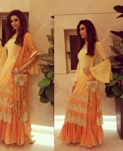 Karishma Tanna in a Traditional Sukriti and Aakriti Outfit