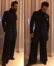 Jackky Bhagnani in a Black Coloured Manish Malhotra