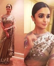 Alia Bhatt in a Manish Malhotra Saree for a Wedding