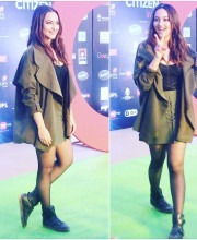 Sonakshi Sinha in a Madison on Peddar Skirt