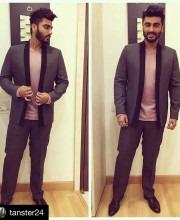 Arjun Kapoor in a Custom Suit by Arjun Kilachand