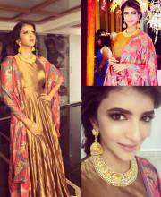 Lakshmi Manchu in separates by Raw Mango and jewellery by Vasundhara