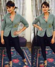 Huma Qureshi in a jacket from Love Generation