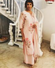 Lakshmi Manchu wearing Maisara for an art show