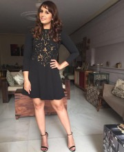 Huma Qureshi in a dress by Nikita Mhaisalkar