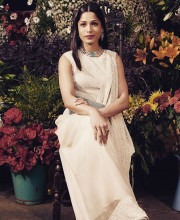 Freida Pinto at the BOF Voices event wearing Anamika Khanna and Amrapali Jewels Picture: Instagram